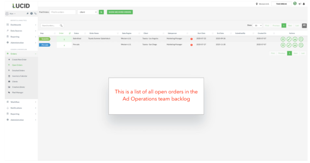 Ad operations workflow with TapClicks
