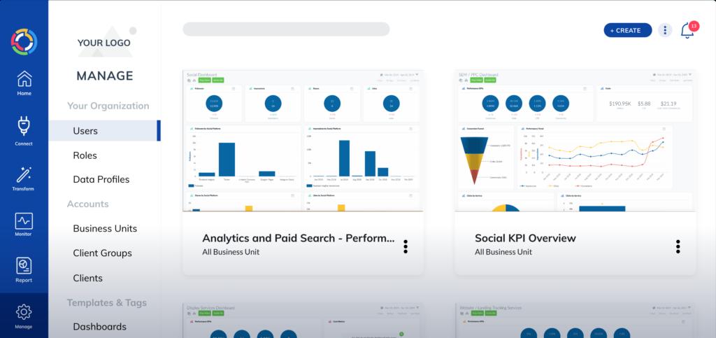 TapClicks enterprise reporting tool dashboard