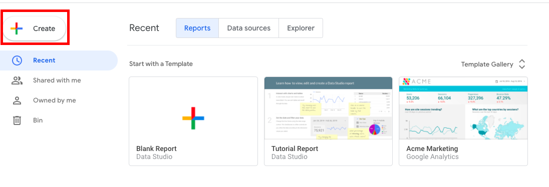Creating and adding a Google Data Studio Connector
