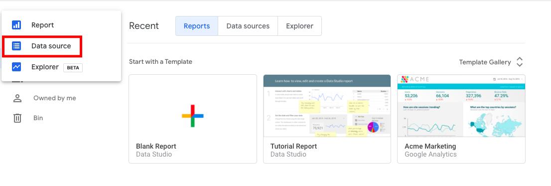 Adding a Google Data Studio Connector Data Source