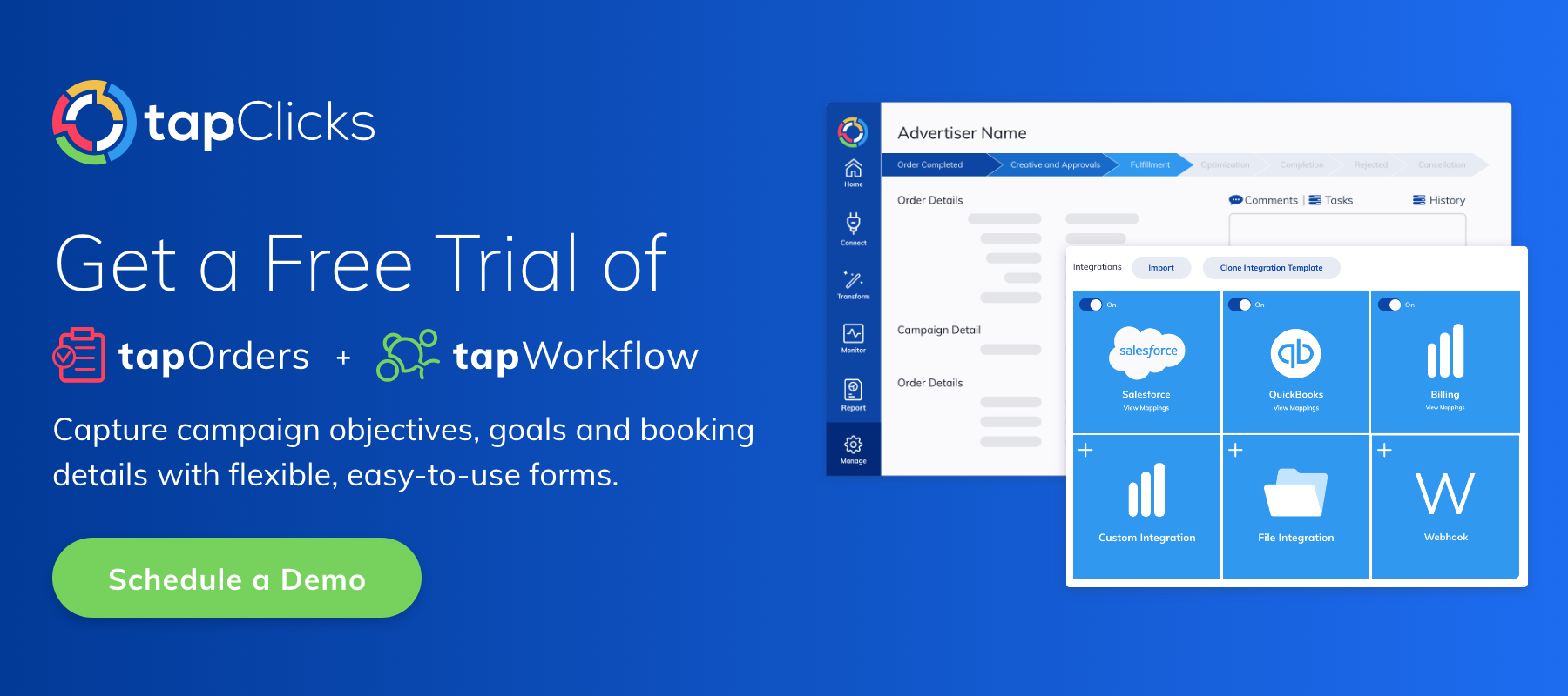 Get a Free Trial of TapOrders + TapWorkflow
