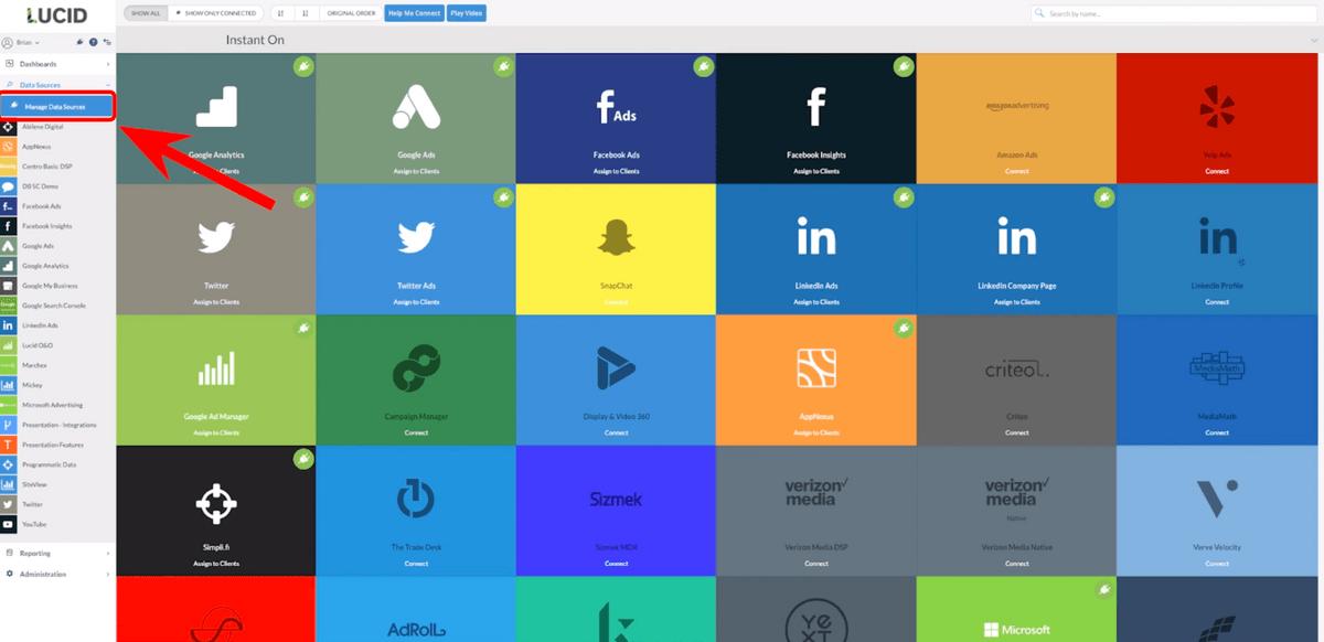 Dashboard homepage