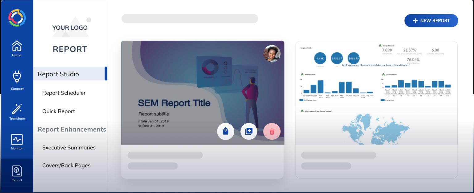 TapClicks reporting feature as a Funnel.io Alternative